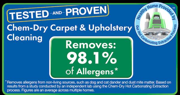 chem dry removes allergen test results