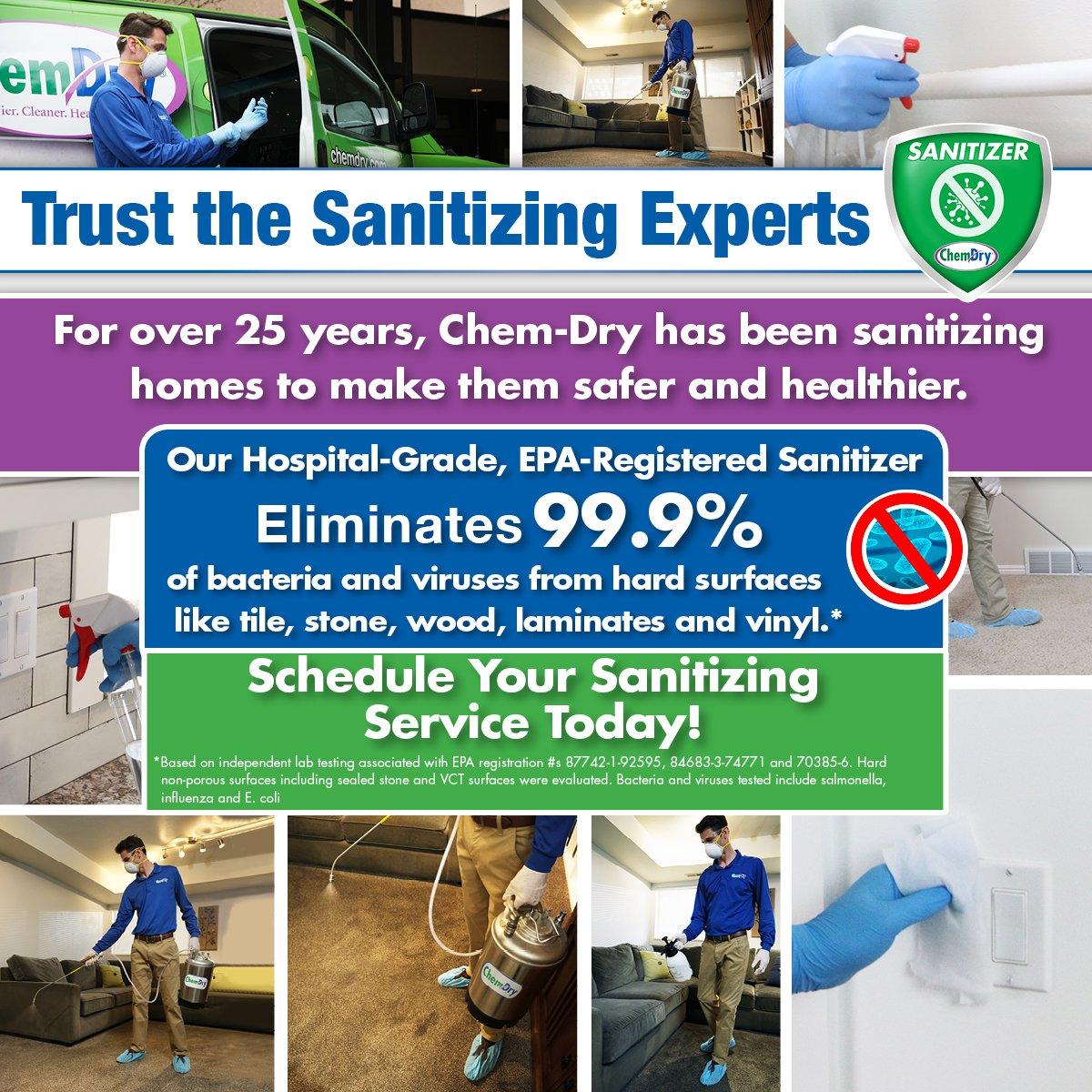 coronavirus cleaning sanitizer information