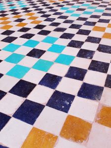 Old tile loses color after time